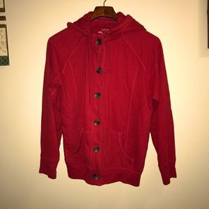 Red soft knitted Jacket